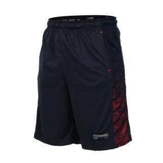 【FIRESTAR】男吸排籃球短褲-慢跑 路跑 五分褲 丈青亮橘(B7601-93)