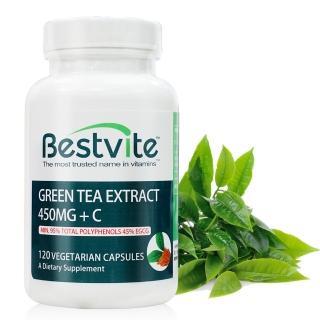 【美國BestVite】必賜力綠茶萃取+維生素C膠囊1瓶(120顆*1瓶)