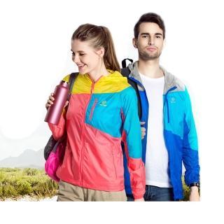 【TecTop】戶外春夏登山慢跑騎乘休閒拼接男女防風衣-輕薄-男(運動外套)