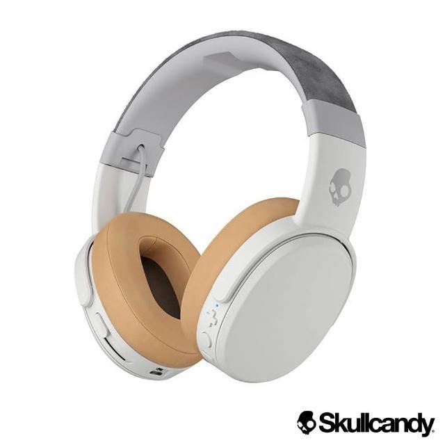 【Skullcandy 骷髏糖】Crusher 跨許 藍牙 大耳罩式震動耳機-白色(公司貨)