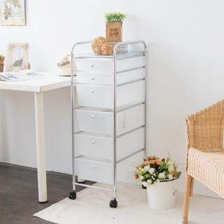 【ikloo】可移式六層4大2小抽屜收納箱