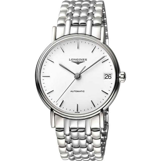 【LONGINES】Presence 經典優雅機械腕錶-白/38mm(L49214126)