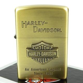 【ZIPPO】日系-Harley-Davidson-哈雷-立體金屬貼飾打火機