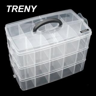 【TRENY】三層收納盒 特大 30格(收納箱 整理盒 零件盒)