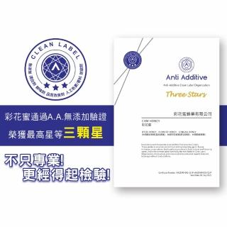【彩花蜜】台灣蜂蜜350g專利擠壓瓶任選口味(荔枝蜂蜜/百花蜂蜜)