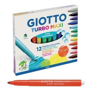 【義大利GIOTTO】可洗式兒童安全彩色筆(12色)