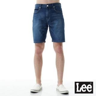 【Lee】運動休閒刷色牛仔短褲/UR-男款-藍(牛仔、短褲)