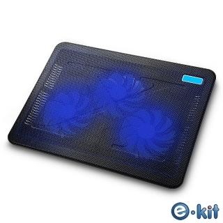 【逸奇e-Kit】110mm 超靜音三風扇筆電散熱墊(CKT-C3)