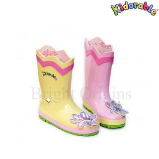 【美國Kidorable】兒童趣味雨鞋(蓮花款)