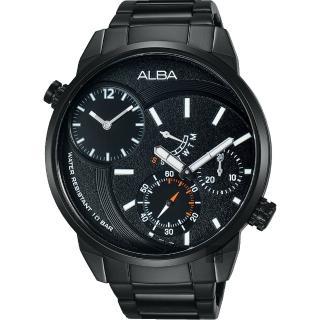 【ALBA】ACTIVE 二地時區限定腕錶-鍍黑/46mm(DM04-X001SD  A2A001X1)