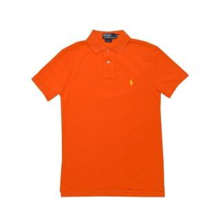 【US POLO】小馬球經典戰馬短袖POLO衫-橘/黃(美國時尚品牌服飾)