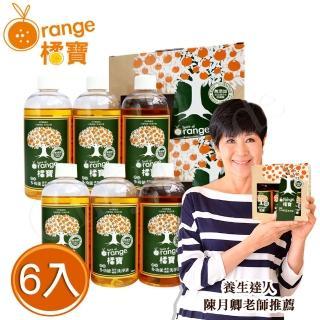 【橘寶】頂級精華橘寶超濃縮多功能 抑菌 洗淨劑 300ml×6入盒裝 含專用噴頭x2(陳月卿推薦 清潔劑)