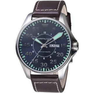 【HAMILTON 漢米爾頓】卡其飛行先鋒80小時機械腕錶(H64715545)