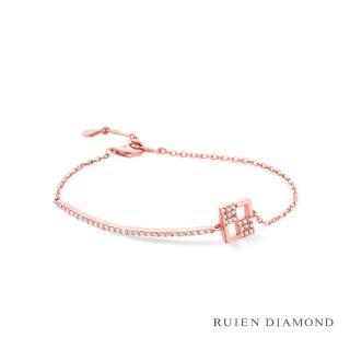 【RUIEN DIAMOND】韓星 金智媛代言款(14K 玫瑰金 手鍊 LB149)