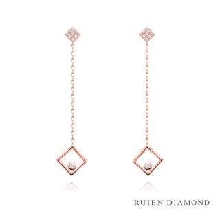 【RUIEN DIAMOND】韓國輕珠寶 飾品 配件(14K 玫瑰金 耳環 JE7439)