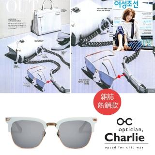 【Optician Charlie】韓國亞洲專利 LP系列太陽眼鏡(白 +水銀鏡面 LP WT- 雜誌款)