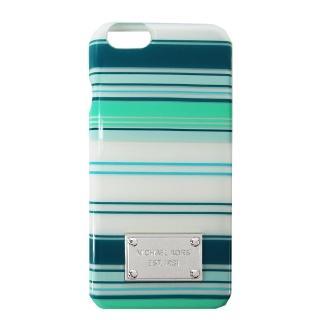 【MICHAEL KORS】ELECTRONICS 雙色條紋 iPhone6/ 6s 手機殼(藍綠/ 白)