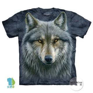 【摩達客】美國進口The Mountain  勇戰之狼 純棉環保短袖T恤(預購)