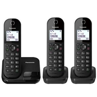 【Panasonic 國際牌】KX-TGC283TWB(中文顯示三子機數位無線電話)