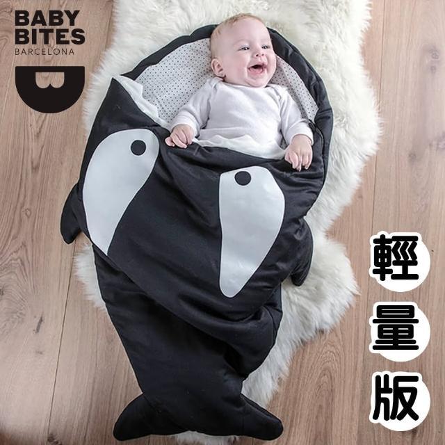【西班牙鯊魚咬一口 BabyBites 西班牙製 100% 純棉手工嬰兒睡袋 防踢被 包巾】小殺人鯨(輕量版)