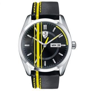 【法拉利 Scuderia Ferrari】皮帶時尚賽車腕錶(50mm/FA0830234)