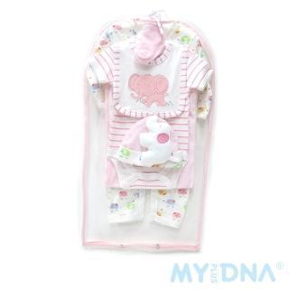【MY+DNA熊本部】短袖包屁衣紗套七件組-可愛小象(AC010-32)