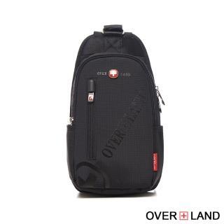 【OVERLAND】美式十字軍-品牌LOGO浮印隨行胸肩包(3129)