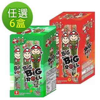 【泰國小老板】海苔棒棒捲任選6盒共54支組(原味/辣味)