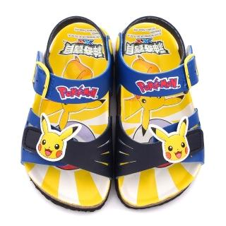 【童鞋城堡】神奇寶貝軟木涼鞋 神奇寶貝-寶可夢(PA3563-藍)