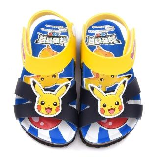 【童鞋城堡】神奇寶貝軟木涼鞋 神奇寶貝-寶可夢(PA3552-藍)