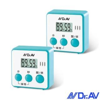 【Dr.AV】日式炫彩方型倒時器/2入(TM-A45)