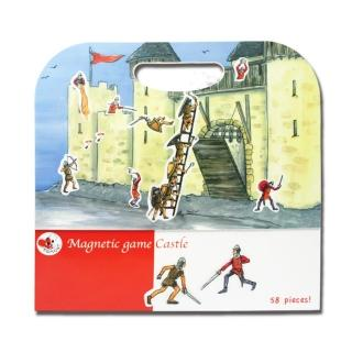 【BabyTiger虎兒寶】比利時 Egmont Toys 艾格蒙繪本風遊戲磁貼書(守護快樂城堡)