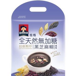 【QUAKER 桂格】全天然100%無加糖超級穀珍系列-黑芝麻糊(23.5g*10入)