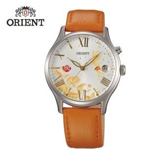 【ORIENT 東方錶】HAPPY STREAM系列 蝶戀仙子機械錶 皮帶款  橘色 - 36mm(FDM01007W)