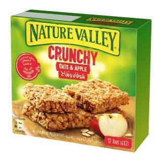 【NATURE VALLEY】天然谷 纖穀派 蘋果燕麥(21gx2片x6條/盒)
