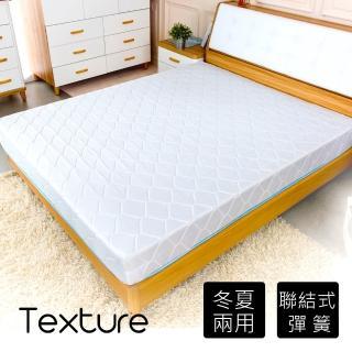 【時尚屋】蔓妮爾印花6尺加大雙人加強彈簧床墊 Q1R7-01-6(台灣製 免組裝 免運費)