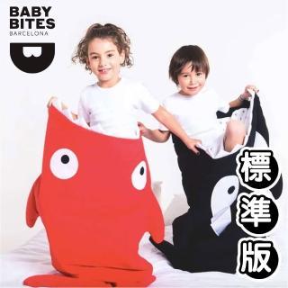 【BabyBites 鯊魚咬一口】西班牙製-純棉兒童多功能睡袋-喜氣紅(兒童標準版)