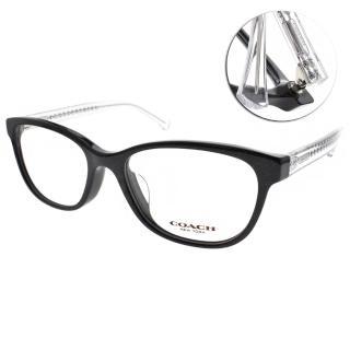 【COACH光學眼鏡】時尚簡約百搭款(黑-透明#CO6072F 5327)
