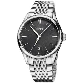 【ORIS】豪利時 Artelier 日期機械腕錶-灰/40mm(0173377214053-0782179)