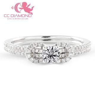 【CC Diamond】甜美蝴蝶結鑽戒(蝴蝶結鑽石戒指)