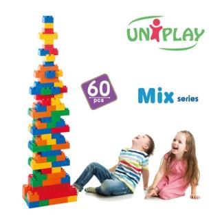 【UNiPLA】抗菌軟積木 MIX款(60PCS)