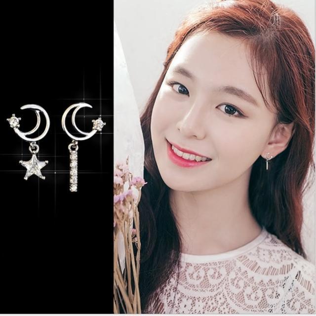 【梨花HaNA】韓國925銀針星月夜空瑰麗許願耳環