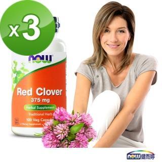 【NOW健而婷】紅花苜蓿-頂級植物異黃酮-100顆/瓶(3瓶組)