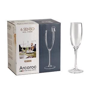 【Arcoroc】感觀高腳香檳杯160cc(六入組)
