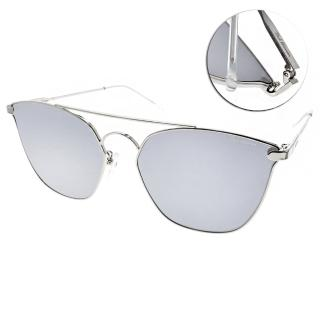 【PAUL HUEMAN 太陽眼鏡】韓系熱銷造型(銀-白水銀#PHS1105A C02)