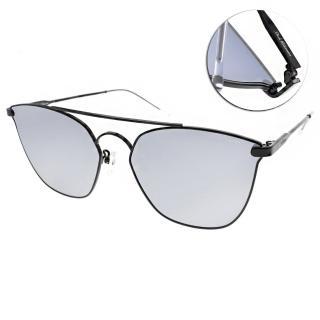 【PAUL HUEMAN 太陽眼鏡】韓系熱銷造型(黑-白水銀#PHS1105A C05)