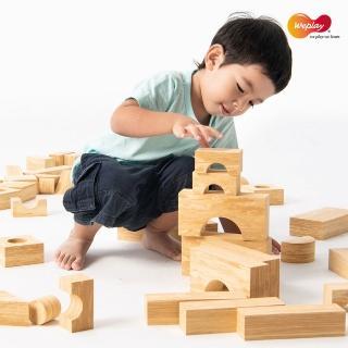 【Weplay】軟質木紋積木 - 68件(STEAM玩具)