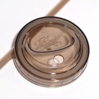 【美國Ball梅森罐】多功能蓋子吸管組-窄口灰(2入/組)