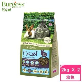【Burgess伯爵】高機能兔飼料《幼兔及侏儒兔》2kg(2包組)