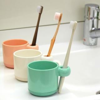 【日本LEC】兒童專用可立牙刷抗菌防汙漱口杯(2入裝)